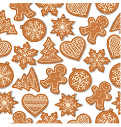 festive christmas seamless pattern with vector image