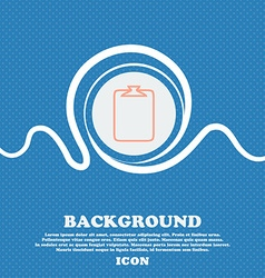 File annex icon Paper clip symbol Attach sign Blue vector
