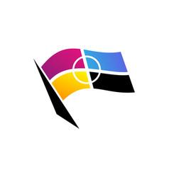 flag of cmyk printing vector image