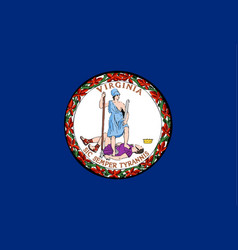 flag of virginia vector image