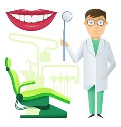 Flat dental icon vector