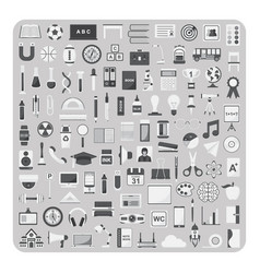 Flat icons education and back to school set vector