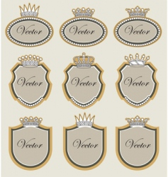 frame with crowns vector image vector image