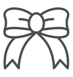 Gift bow line icon silk bow vector