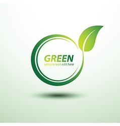 Green label3 vector