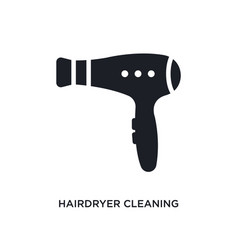 Hairdryer cleaning isolated icon simple element vector