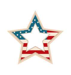 happy independence day american flag shaped star vector image