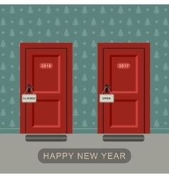 Happy new 2017 year concept vector image