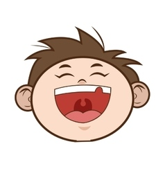 Happy young boy icon vector