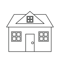 Home classic style loft outline vector