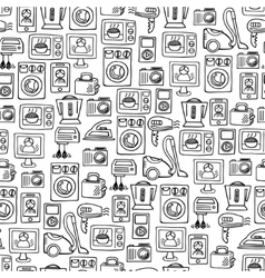 Home electronics sketch seamless pattern vector image
