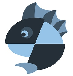 iconic fish with a fin design vector image