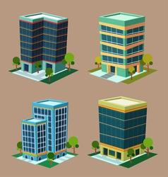 Isometric building 1 vector