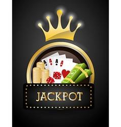 Jackpot design vector