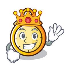 King chronometer character cartoon style vector