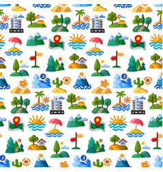 landscapes seamless pattern vector image