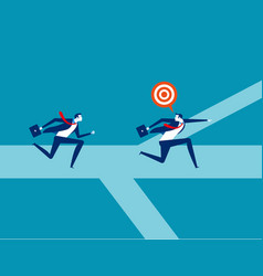leader going to goal together concept business vector image