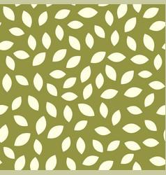 leaf seamless pattern plant background vector image
