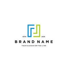 Letter ll logo design vector