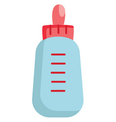 light blue and pink feeding bottle on white vector image