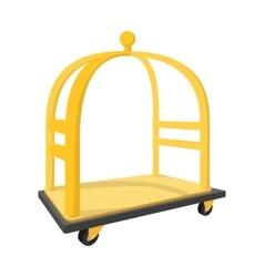 Luggage trolley cartoon icon vector image