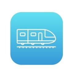 Modern high speed train line icon vector