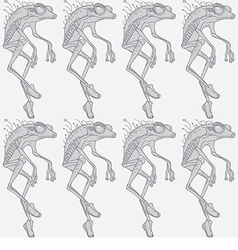 Monochromatic abstract walking frog vector