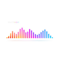 multicolored sound wave equalizer vector image