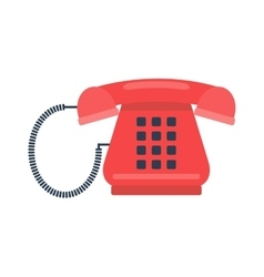 Old mobile phone retro vector image