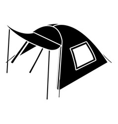 one person tent icon simple style vector image