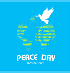peace day international earth origami dove birds v vector image