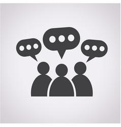 people speech bubble icon vector image
