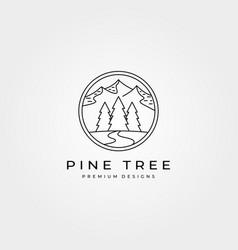pines outdoor adventure logo symbol design vector image