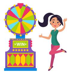 player fortune roulette machine casino vector image