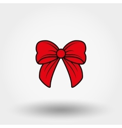 Red bow Cartoon vector image
