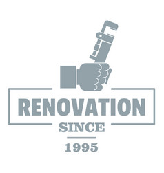 Renovation logo vintage style vector