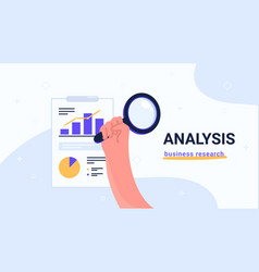 Report analysis and business research flat vector
