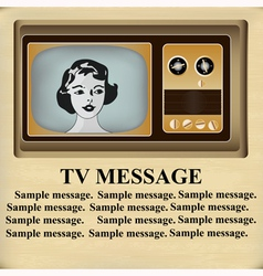 Retro tv message vector