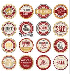 Retro vintage design quality badges collection vector