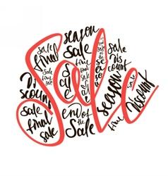 Season sale banner promotion vector image