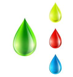 Set colored drops vector