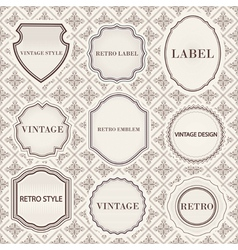 Set of vintage retro labels templates vector image