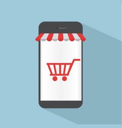 Smartphone shop online concept vector