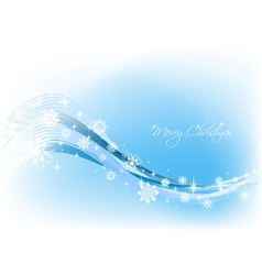 Snowflake blue Background vector image