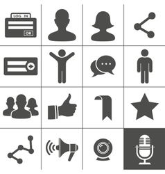 Social Networks Icons vector