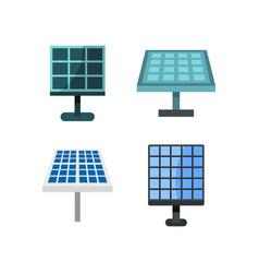 solar battery icon set flat style vector image