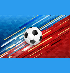 sport event web banner with soccer ball vector image