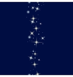 Starry line on dark blue background vector image