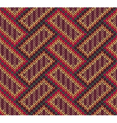 Style Seamless Brown Red Brown Yellow Color Knitte vector image