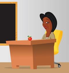 teacher classroom chalkboard vector image